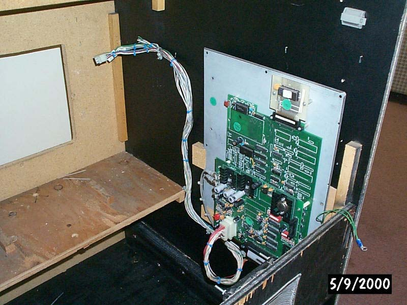 the thayer s quest project mounted the board and main wiring harness