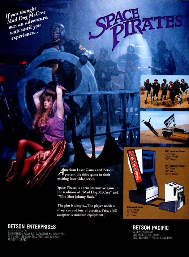 laserdisc game flyers